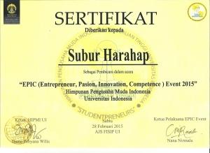 Subur Harahap HIPMI UI 2015